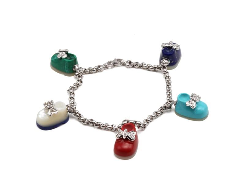 18k Piero Mila Diamond & Bracelet