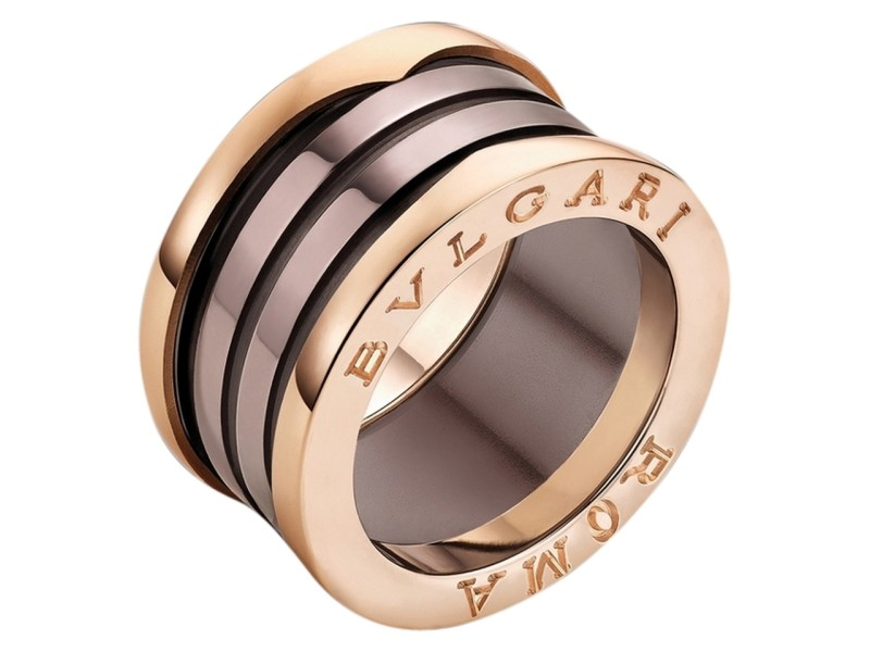 Bvlgari Rose Gold Ceramic Ring