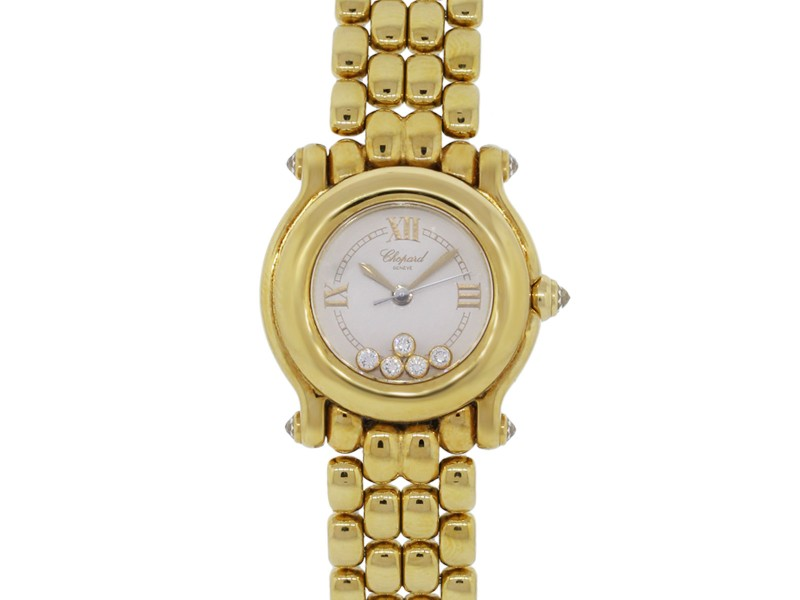 Chopard Happy Sport 18K Yellow Gold Diamond Watch