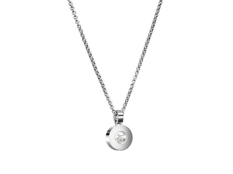Chopard 18K White Gold Happy Diamond Icon 793086 Necklace
