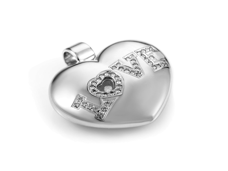 Chopard Love 18K White Gold Diamond Enhancer Pendant