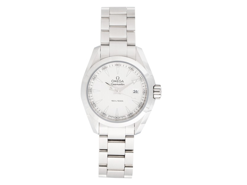 Omega Aqua Terra 23110306002001 Silver Dial 30mm Womens Watch