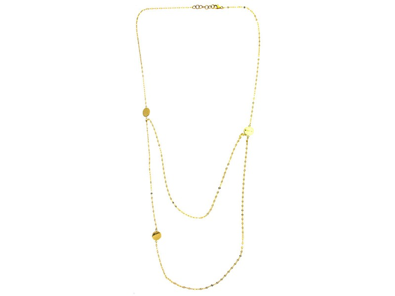 Lana Jewelry 14K Yellow Gold Tri Disc Necklace