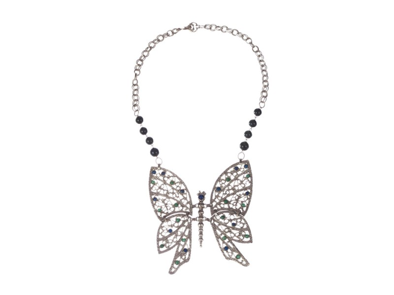 Massive Runway Butterfly Necklace