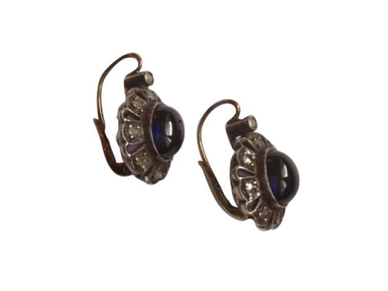 Vintage Earrings with Sapphires & Diamonds