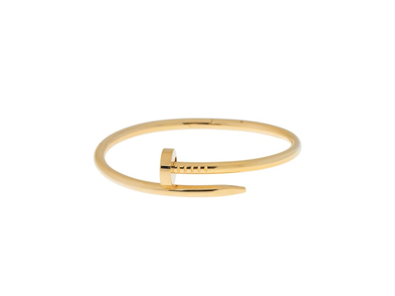 Cartier Juste Un Clou B6037817 18K Yellow Gold Bracelet Size 19
