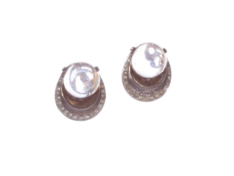 Trifari Art Deco Lucite Jelly Belly Earrings