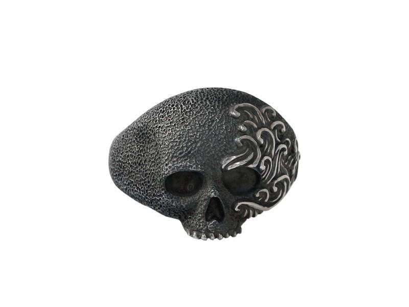 David Yurman Sterling Mens Skull Ring