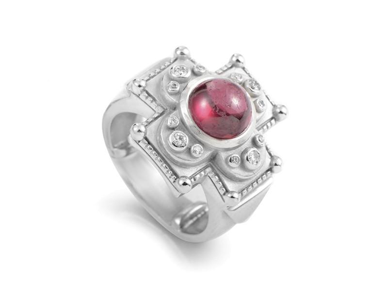 Kieselstein-Cord 18K White Gold Tourmaline & Diamond Ring