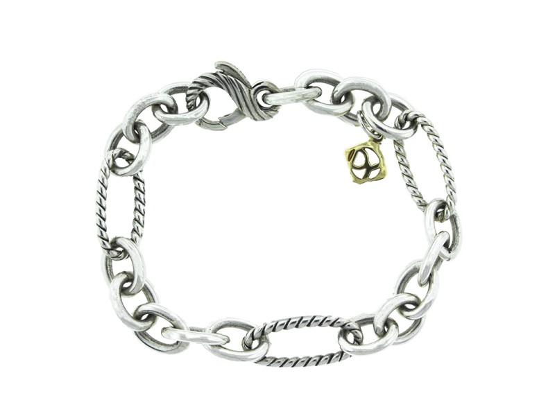 David Yurman Sterling Silver Figaro Link Bracelet