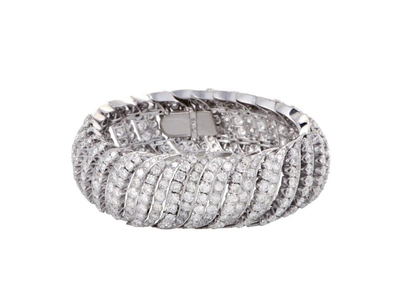 Platinum & 31.00ct Diamond Pave Bracelet