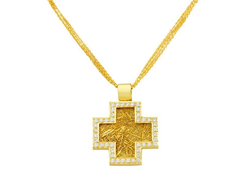 18K Deep Faith Pendant Cross