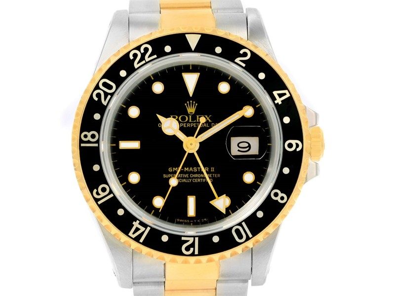Rolex GMT Master II 18K Yellow Gold Stainless Steel 40mm