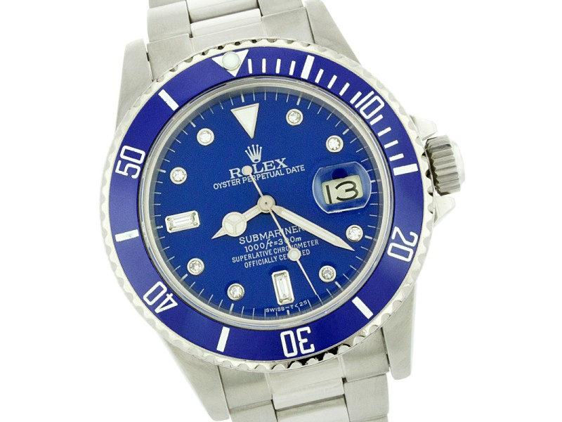 Rolex submariner blue stainless steel