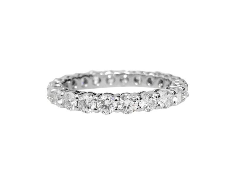 Tiffany Co Platinum And Diamond Wedding Band Ring Size 65