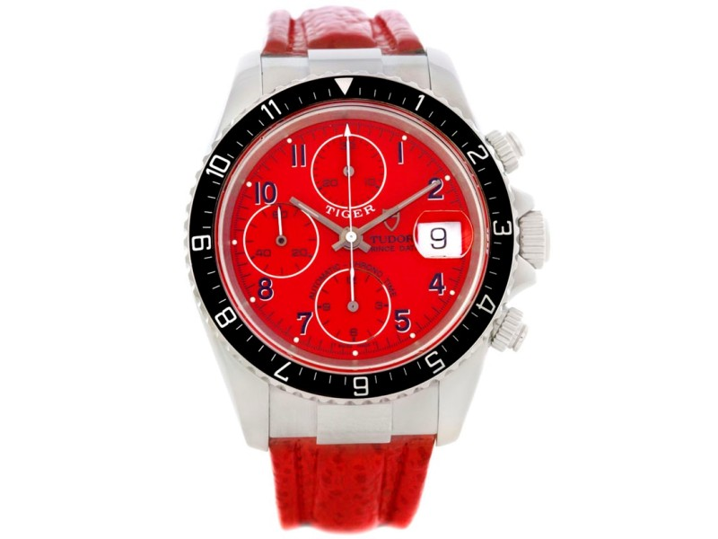 Tudor Tiger Woods 79270 Chronograph Stainless Steel 40mm Mens Watch