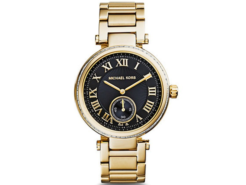 Michael Kors Skylar Black And Gold-Tone 40mm Watch
