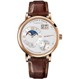 Grand Lange 1 Moonphase 139.032 18K Rose Gold Silver Dial 41mm Mens Watch
