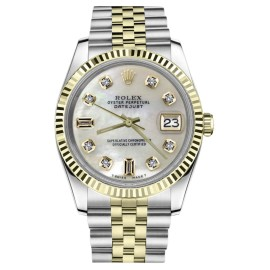 Rolex Datejust Stainless Steel / 18K Gold with White Mother Of Pearl Dial 31mm Womens Watch