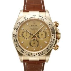 Rolex Daytona 116518 Yellow Gold Strap Champagne Dial 40mm Watch