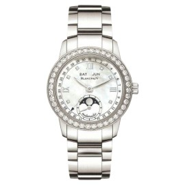 Blancpain 3663A-4654-71B Stainless Steel Diamond Mother Of Pearl Dial 34mm Womens Watch