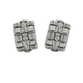 Roberto Coin Appassionata 18K White Gold and Diamond Earrings