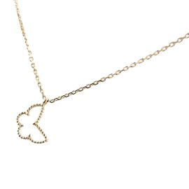 Van Cleef & Arpels Alhambra Papillon 18K Yellow Gold Mother of Pearl Necklace