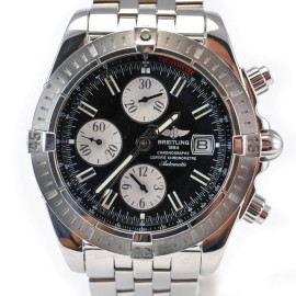 Breitling A13356 Windrider Evolution Chronometer Black Dial Automatic Mens Watch