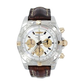 Breitling IB0110 Chronomat Stainless Steel & Yellow Gold White Dial Automatic 42mm Watch