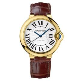 Cartier W6900356 Ballon Bleu 18KT Yellow Gold Leather Strap 36mm Womens Watch