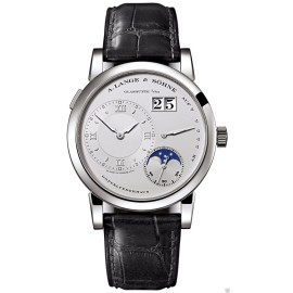 A. Lange & Sohne 109.025 Lange 1 Moonphase Platinum 38.5mm Watch