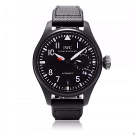 IWC Big Pilot's Watch Top Gun Ceramic IW501901 48mm Black Fabric Watch