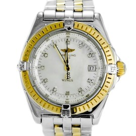 Breitling Wings D67050 Mother Of Pearl Diamond Hour Marks Two-Tone Women's Watch