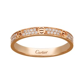 Cartier Love 18K Rose Gold Diamond Rind Size 51