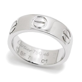 Cartier Love 18K White Gold Ring Size 3.75