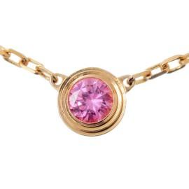 Cartier 750 Pink Gold Saphirs Legers De Sapphire Necklace