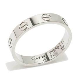 Cartier Mini Love 950 Platinum Ring Size 5.75