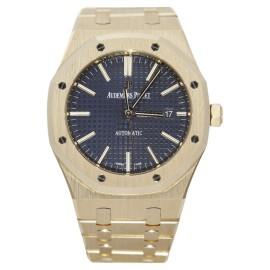Audemars Piguet Royal Oak 15400OR.OO.1220OR.03 18K Rose Gold  Blue Dial 41mm Mens Watch