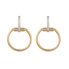 Roberto Coin Classic Parisienne 18K Yellow Gold 0.2ct Diamond Hoop Earrings