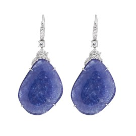 Rina Limor Abstract Tanzanite Dangling Earrings