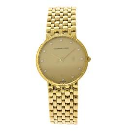 Audemars Piguet 18K Yellow Gold Diamond Dial Vintage Womens Watch
