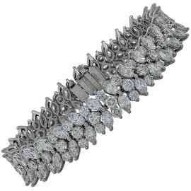 Tiffany & Co. Platinum & Diamond Cluster Bracelet