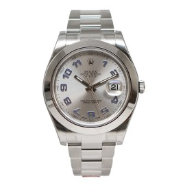 Rolex Datejust II 116300 Stainless Steel Blue Arabic Silver 41mm Watch