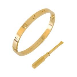 Cartier Love B6035517 Bracelet Yellow Gold Size 17