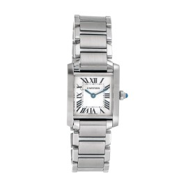 Cartier W51008Q3 Tank Francaise Small Stainless Steel Womens Watch