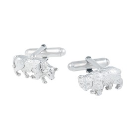 Tiffany & Co. Sterling Silver Bull and Bear Cufflinks