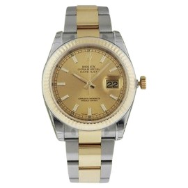 Rolex Datejust 116233 Champagne Index Mens Watch