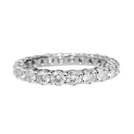 Tiffany & Co. Platinum and Diamond Wedding Band Ring Size 6.5