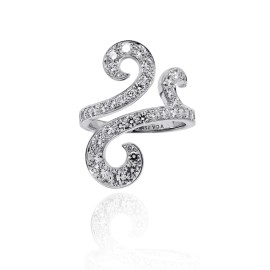 Van Cleef & Arpels Oiseaux de Paradis 18K White Gold Diamond Ring