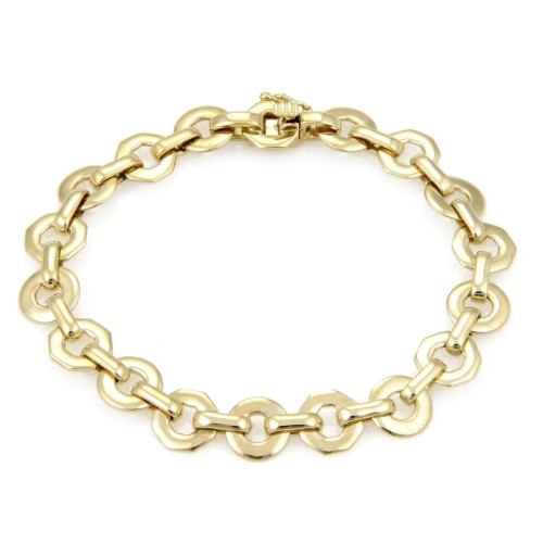 Fred of Paris 18K Yellow Gold Fancy Circular Link Bracelet